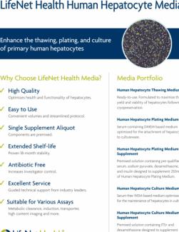 Brochure - Hepatocyte Media Brochure