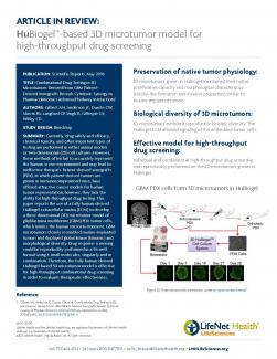 Brochure - HuBiogel-based 3D microtumor model for high-throughput drug screening